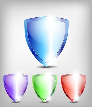 set of shields Stock Vector - 13361910