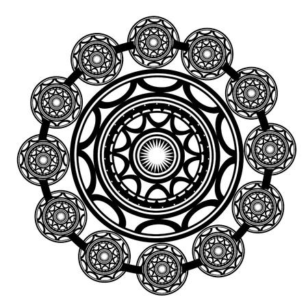 schulter: Maori-Tattoo im polynesischen Stil