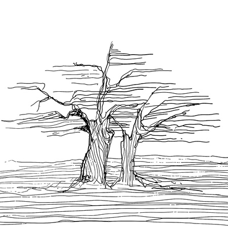 Hand Drawn Tree Sketch
