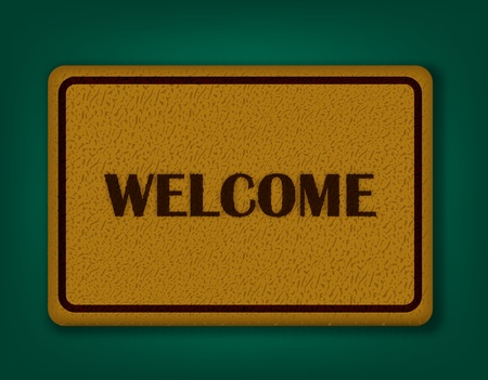 Welcome Carpet  Vector