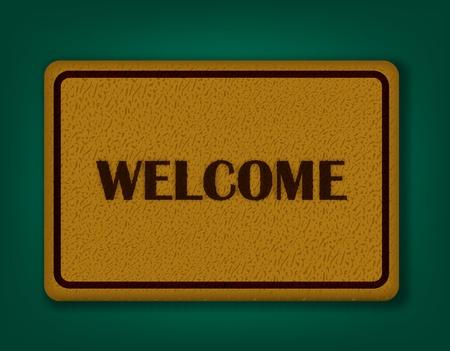 floor mat: Welcome Carpet