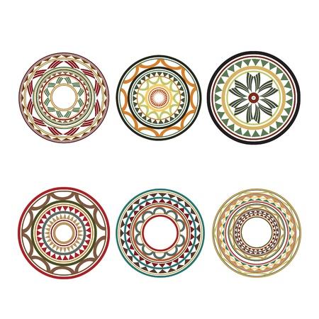 マオリのポリネシア スタイルのタトゥーのデザイン  イラスト・ベクター素材