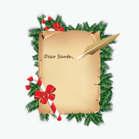 A letter to santa Vector