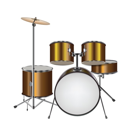 drum set:  Illustration of Drum Kit