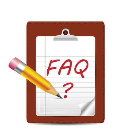FAQ Icon Isolated on White Stock Vector - 16166286