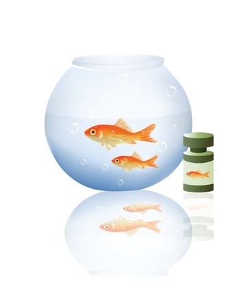 Fish with Boal Stock Vector - 16166570