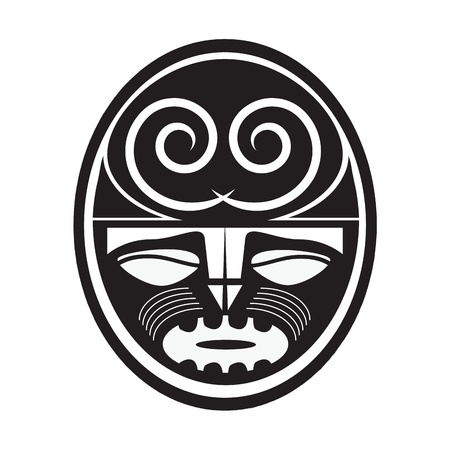 tribal tattoo:  Illustration of Maori style symbol