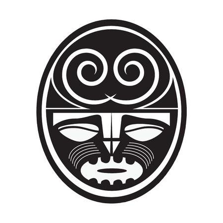 maories: Ilustración del símbolo de estilo maorí