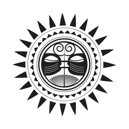 Beautiful Polynesian style tattoo  Vector