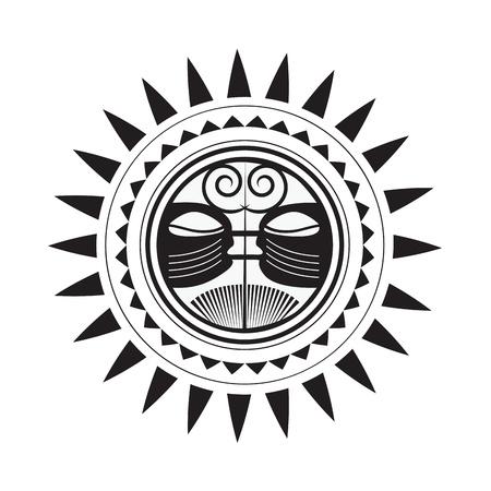 Beautiful Polynesian style tattoo  Illustration