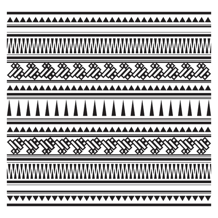 Illustration of Aztec pattern  向量圖像