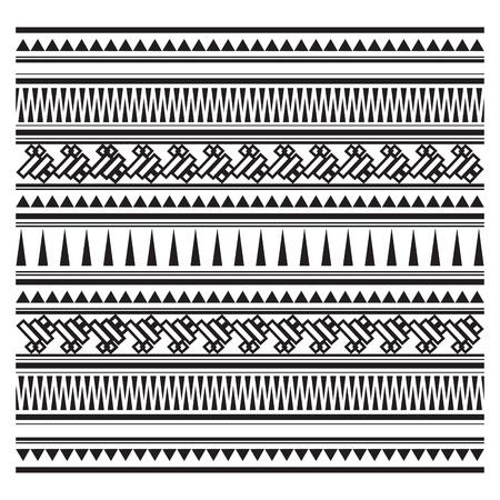 maories: Ilustración del patrón azteca Vectores