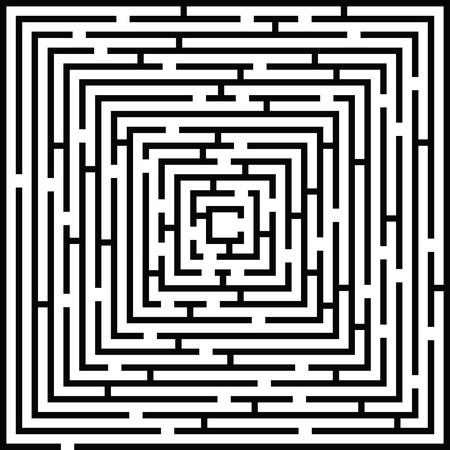 Complex Maze Background Illustration Illustration