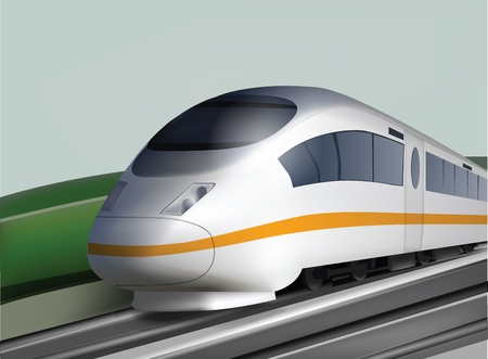 high speed railway: High Speed Deluxe Train Illustration