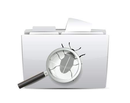 virus alert:  Virus Scan Icon  Illustration