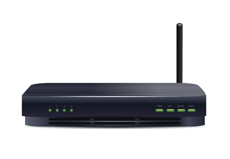 dsl:  Wireless Router Isolated on White