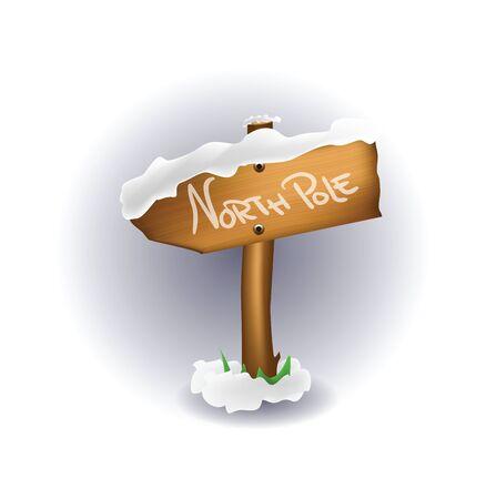 north pole:  Illustration of North Pole sign