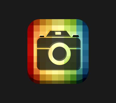 Camera Icon Mozaic Background