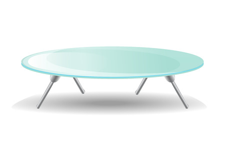 table glass: Glass Table. On white background. Illustration
