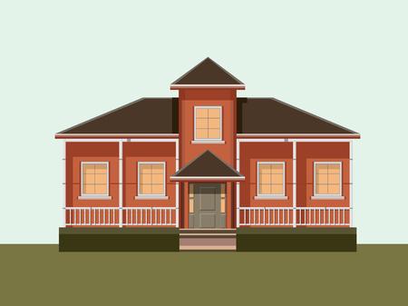 investment real state: Casa Piso Ilustración del diseño moderno
