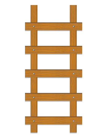 ladder of success: Climb Ladder On white background.