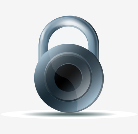 releasing: Lock Icon On white background.