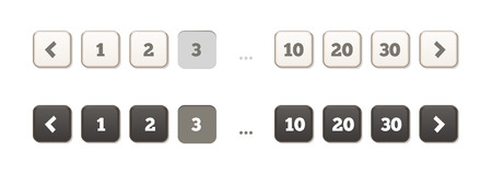 windows media video: Pagination Bars Buttons Flat Soft Style