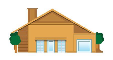 investment real state: Piso Ilustraci�n Casa aislada en blanco