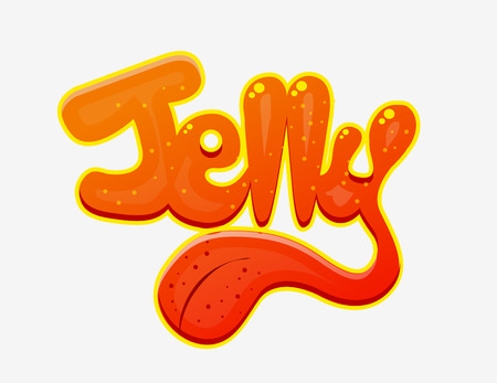 jelly: Jelly Stylized Text Isolated on White