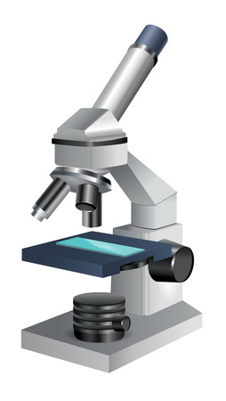 eyepiece: Microscope Icon Isolated on White