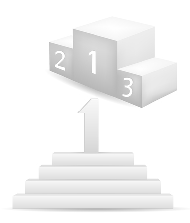 3D Podium isolated on white Vector
