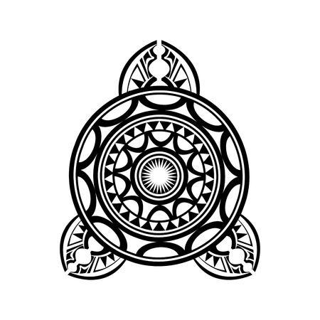 polynesian: Polinesian Tattoo Pattern Traditional Isolated on White
