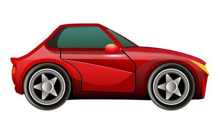 motorizado: Icono de coche deportivo rojo Vectores