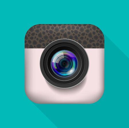 Foto-Kamera Icon Standard-Bild - 38928694