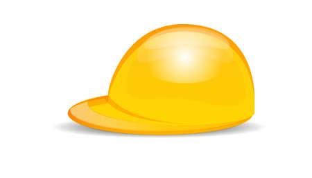 hard cap: Hard Hat - Worker Cap Isolated on White Illustration