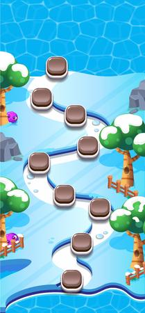 Carte du monde de niveau pour les jeux mobiles - Ressources - Pour Game Reskin Vecteurs