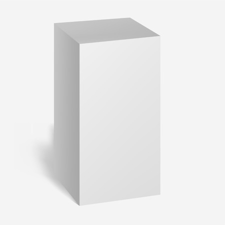 White Product Cardboard Package Box. Illustration Isolated On White Background. Mock Up Template Ready For Your Design. Vector EPS10 Çizim
