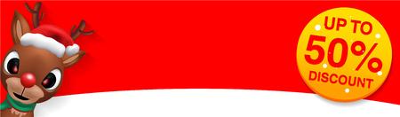 Raindeer Sales Banner Design - Holiday Greeting