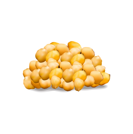 chickpeas isolated on white background