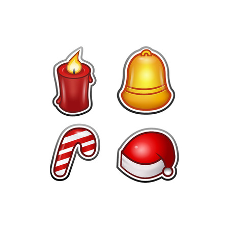 Christmas Set Icons for Web or Mobile Games