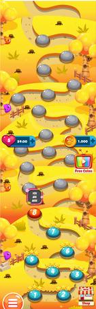 Level Weltkarte für Handyspiele - Assets - Für Game Reskin