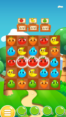 Match 3 Game Fruits / Game Reskin Asset