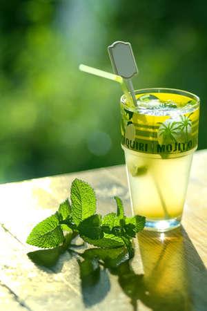 rhum: Mojito cocktail