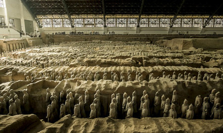 imperialism: Terracotta Army is a collection of terracotta sculptures depicting the armies of Qin Shi Huang, the first Emperor of China  210-209 BCTaken 24 Mar 2014