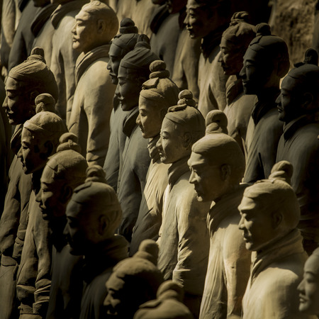 Terracotta Army is a collection of terracotta sculptures depicting the armies of Qin Shi Huang, the first Emperor of China  210-209 BCTaken 24 Mar 2014  photo