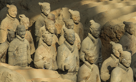 emperor of china: Terracotta Army is a collection of terracotta sculptures depicting the armies of Qin Shi Huang, the first Emperor of China  210-209 BCTaken 24 Mar 2014