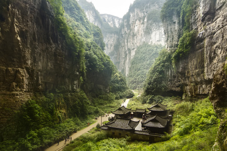 national fruit of china: Wulong National Park, Chongqing, China Editorial