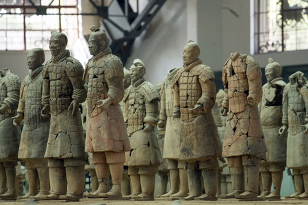 huang: Terracotta Army is a collection of terracotta sculptures depicting the armies of Qin Shi Huang, the first Emperor of China  210-209 BCTaken 24 Mar 2014