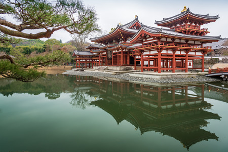 buddhist temple: UJI, JAPAN-MAR 7,2015.Byodo-in is a Buddhist temple in the city of Uji in Kyoto Prefecture, Japan Editorial