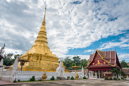 thailand art: Phra That Chae Haeng Temple is a favourite destination in Nan province, Northern of Thailand Editorial